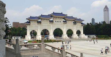 Gerbang masuk Chiang Kai-shek Memorial Hall, Taipei (Foto: Yanty Wu/NTD Indonesia)