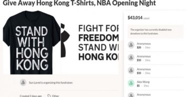 T-Shirt Stand with HK (Screenshot Gofundme.com)
