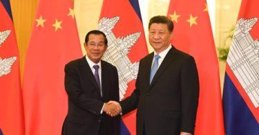 PM Hun Sen dan Presiden Xi (Foto: Madoka Ikegami - Pool/Getty Images)