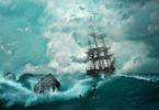 Perahu di tengah badai