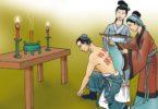 Ibu Yue Fei, menato 4 karakter di punggung putranya