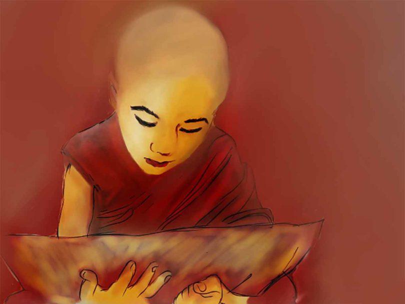 Biksu kecil (©Tania Chowdhury)