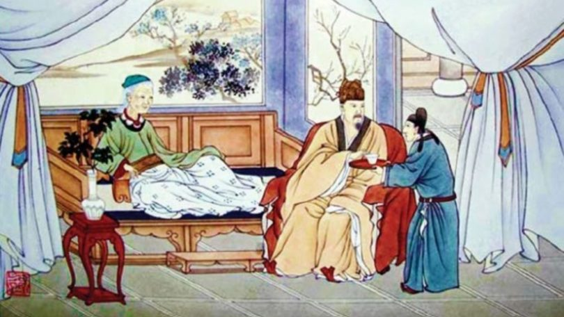 Kaisar mencicipi obat Ibunya sendiri